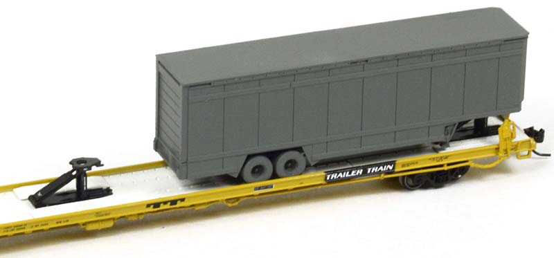 Athearn TrailerTrain Flatcar and UPS Trailer in N scale