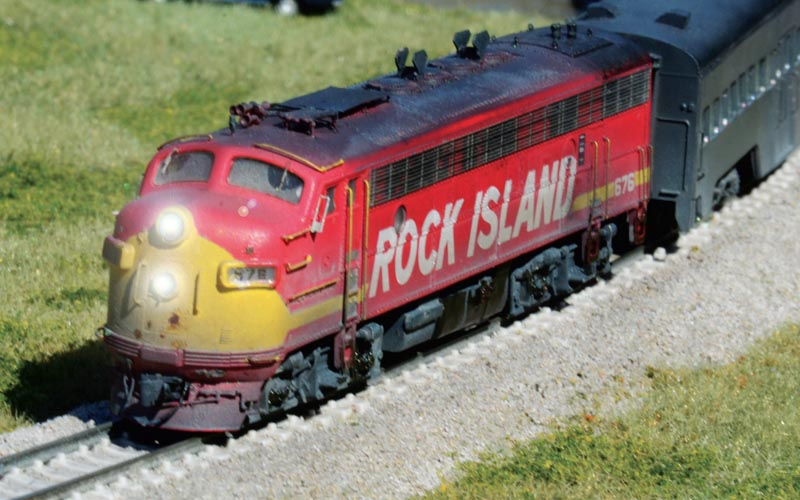 Modeling a Rock Island Commuter Diesel in N Scale