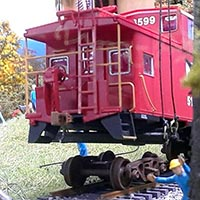 A Caboose Comes to the Farm