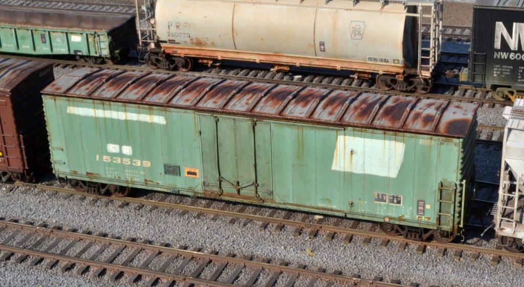 Weathering a Penn Central Boxcar