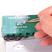 Weathering an ex-Penn Central Conrail Boxcar