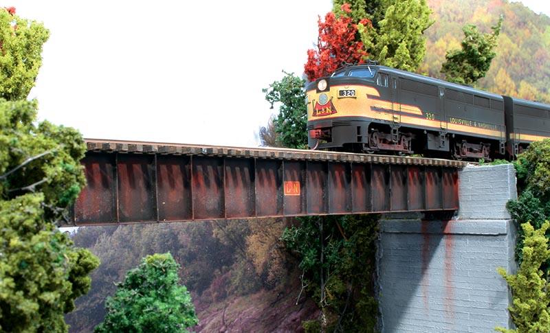 Scratchbuilt Brass Bridge in HO Scale
