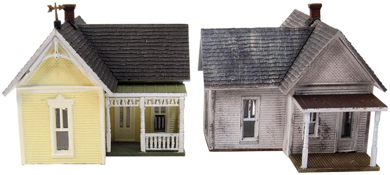 American Cottages from Woodland Scenics in HO Scale