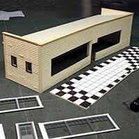 Model the Polka Dot Diner in HO Scale