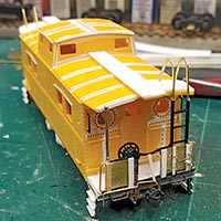 Lehigh Valley Caboose Kitbash in HO Scale