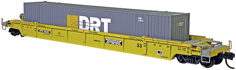 Jacksonville Terminal Company Intermodal Well Cars in N Scale