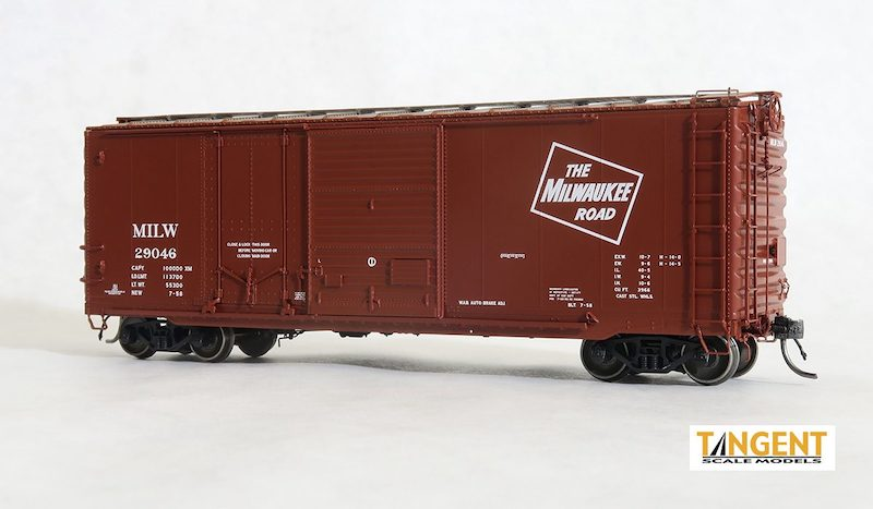 All-New HO 40' Combination Door Boxcars from Tangent