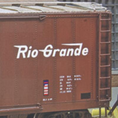 Yarmouth Model Works Rio Grande PSC Steel Boxcar Kits