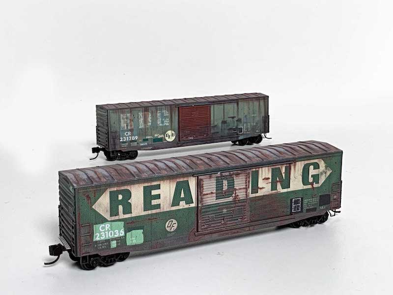 Micro-Trains Releases Conrail/Reading 50' Boxcars in N scale