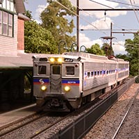 Rush Hour at St. Martins: PRR and SEPTA Commuter Action