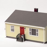 Walthers Post War Prefab 'Cracker Box' House Kit